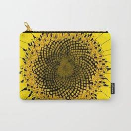 Sunflower: Fibonacci Sequence Carry-All Pouch