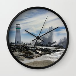 Walton Lighthouse Santa Cruz California Photography Wall Clock