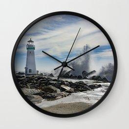 Walton Lighthouse Santa Cruz California Photography Wall Clock