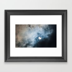 Cloudy Solar Eclipse March 2015 Framed Art Print