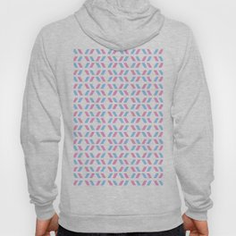 Oblique polka dot blue and pink Hoody