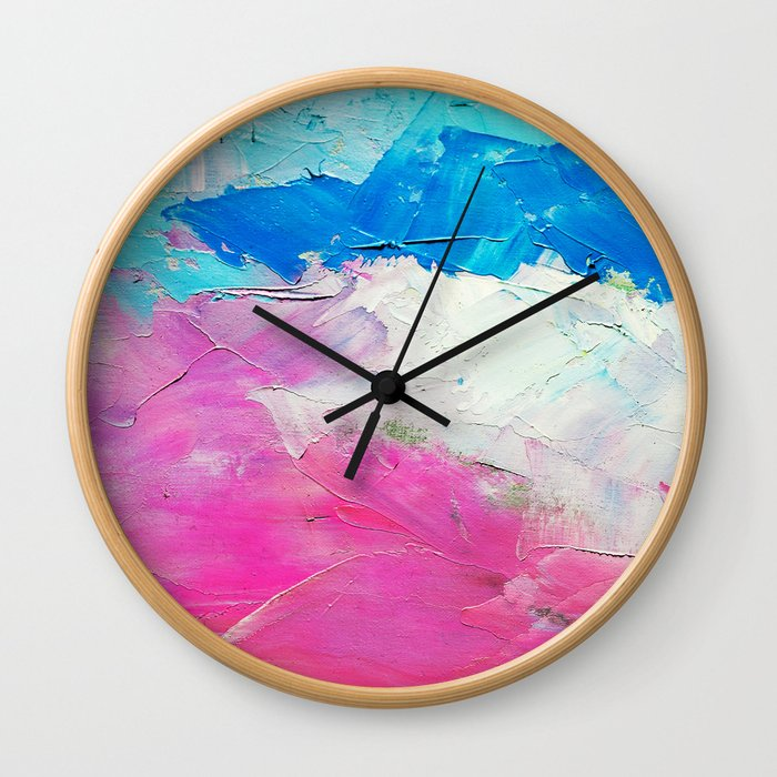 Colorful Oil Painting Wall Clock