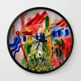 The Colors of Menton! Wall Clock