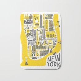 Manhattan New York Map Bath Mat