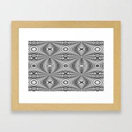 Spider theme B&W Bonitum Ornament #A Framed Art Print