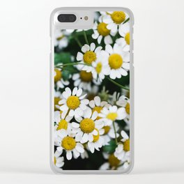 Camomile Wild Flowers Clear iPhone Case