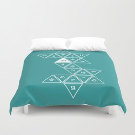 Teal Unrolled D20 Duvet Cover