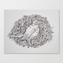 Rococo Nightingale Canvas Print