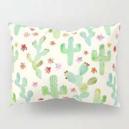 Watercolor Cacti Pillow Sham