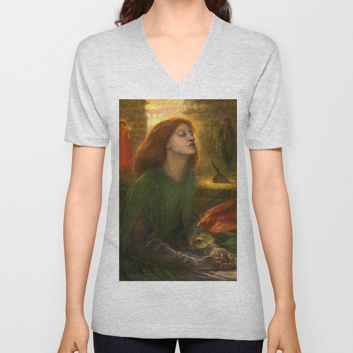 Beata Beatrix by Dante Gabriel Rossetti, 1864 Unisex V-Neck