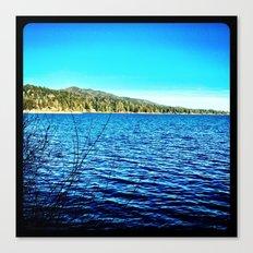 Blue sky, blue water. Canvas Print
