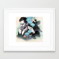 tom hiddleston Framed Art Prints featuring Tom Hiddleston by Yan Ramirez