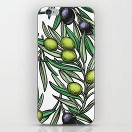Mediterranean pattern — Olives iPhone Skin