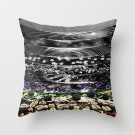 Universal Magnification (Orders of magnitude) Throw Pillow