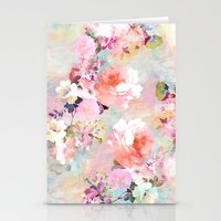 pastel Stationery Cards featuring Love of a Flower by Girly Trend