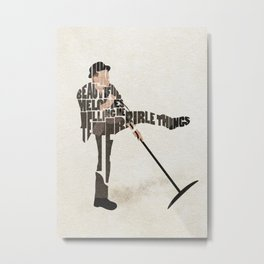 Typography Art of Tom Waits Metal Print