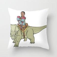 A Boy and his Dinosaur Throw Pillow