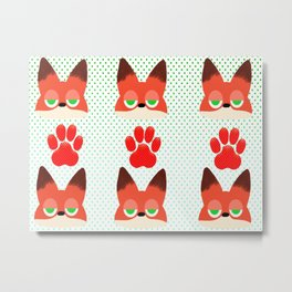 Loyal fox Metal Print