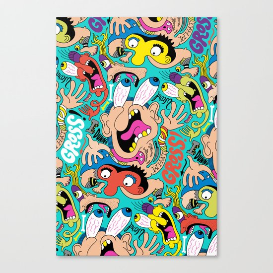 Weird Pattern Canvas Print