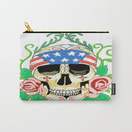 Biker Sugar Skull Carry-All Pouch