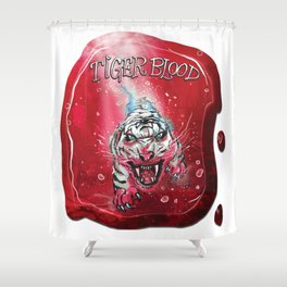 TigerBlood Tiger-Dive by Spysee Shower Curtain