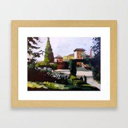 Sunny in Granada Framed Art Print