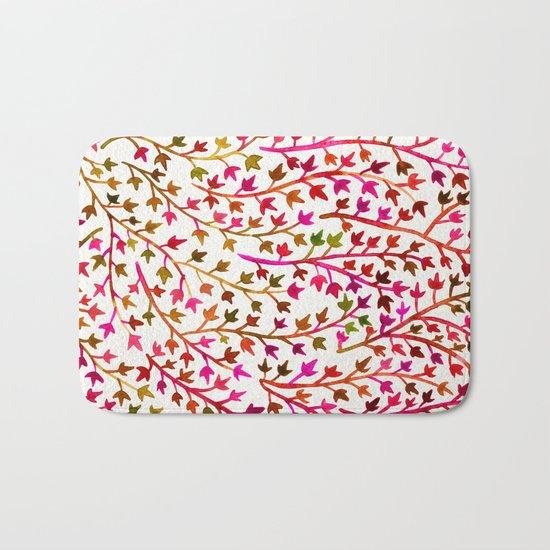 Pink Ivy Bath Mat