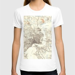 Vintage Map of Jacksonville Florida (1918) T-shirt