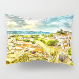 Obidos, small and authentic fortified town in Portugal Pillow Sham