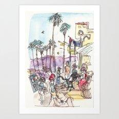 A Day at Venice Beach Art Print