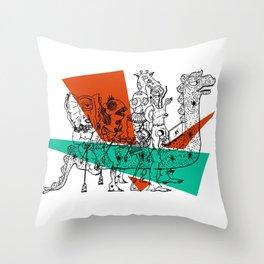 Adjacent Fourmula Throw Pillow