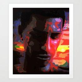 Sad young African man Art Print