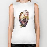 monkey Biker Tanks featuring Monkey by beart24