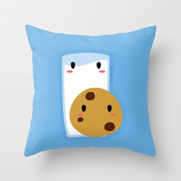 Milk and Cookie Throw Pillow