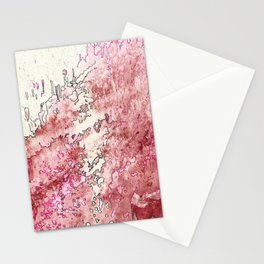 Pink Bubbles Stationery Cards