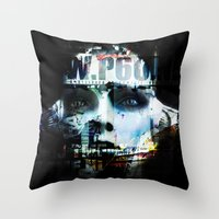 android Throw Pillows featuring Android by Studio46