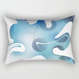 Abstract Blue Mixed Paint design Rectangular Pillow