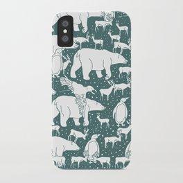 Polar gathering (emerald) iPhone Case