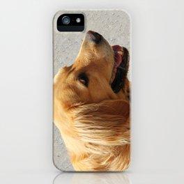 Happy Golden Retriever iPhone Case