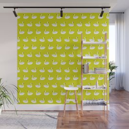 SWANS ((chartreuse)) Wall Mural