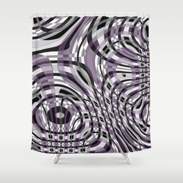 Abstract 360 Shower Curtain