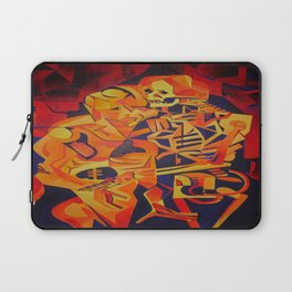 A Skeleton and Corpse Embracing Death Laptop Sleeve
