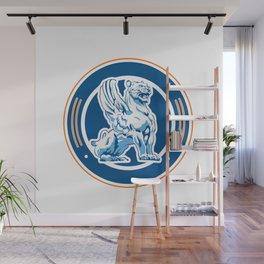 tiger wings emblem Wall Mural