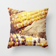 Colorful Corn I Throw Pillow