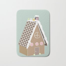 Gingerbread House Bath Mat