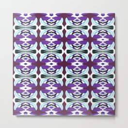 Passion For Purple - Painting Within The Lines Collection Metal Print