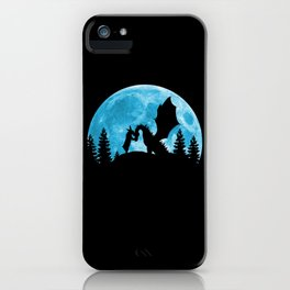 Friendship Of A Blue Moon iPhone Case