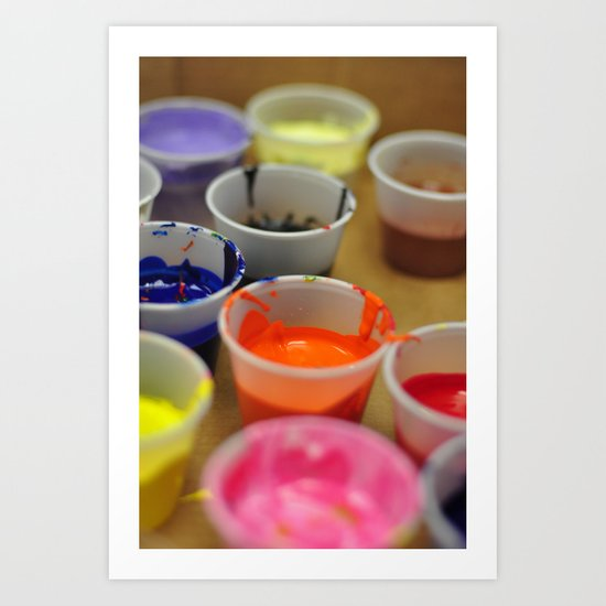 Paint. Art Print