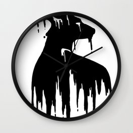 Painted Stag V.2 Wall Clock