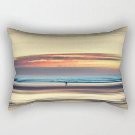 Along Memory Lines - Abstract Seascape Rectangular Pillow